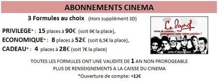 Carte d'abonnement cinéma