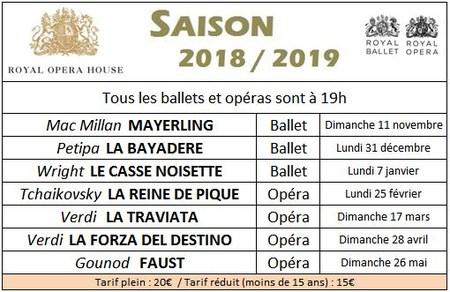 Programme Royal Opera House