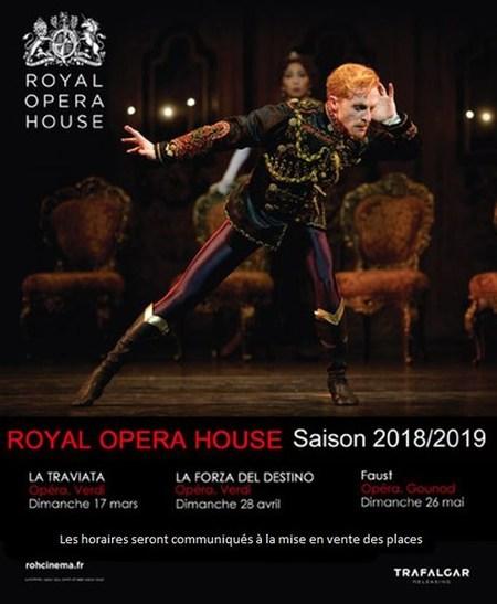 Programme Royal Opera House - saison 2018 / 2019