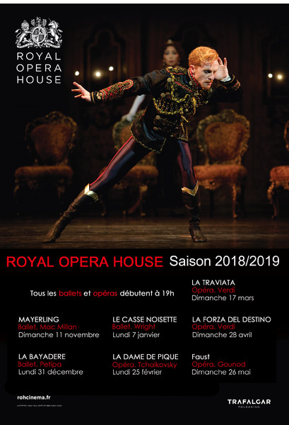 Programme Royal Opera House - saison 2018 / 2019